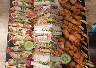 Buffet selection with sandwiches